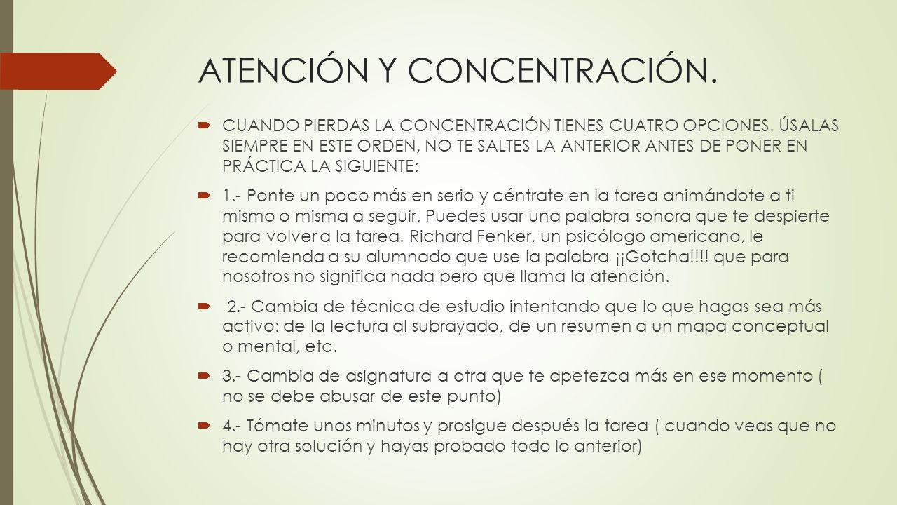 T cnicas de estudio colegio de educaci n infantil y - Mejorar concentracion estudio ...