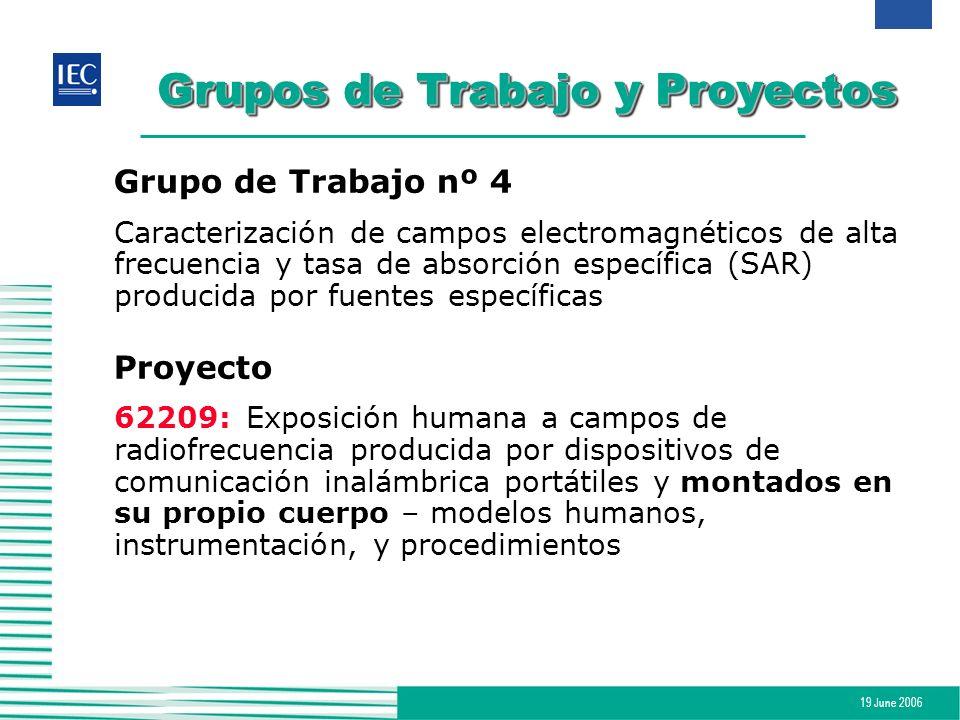 Grupos de Trabajo y Proyectos