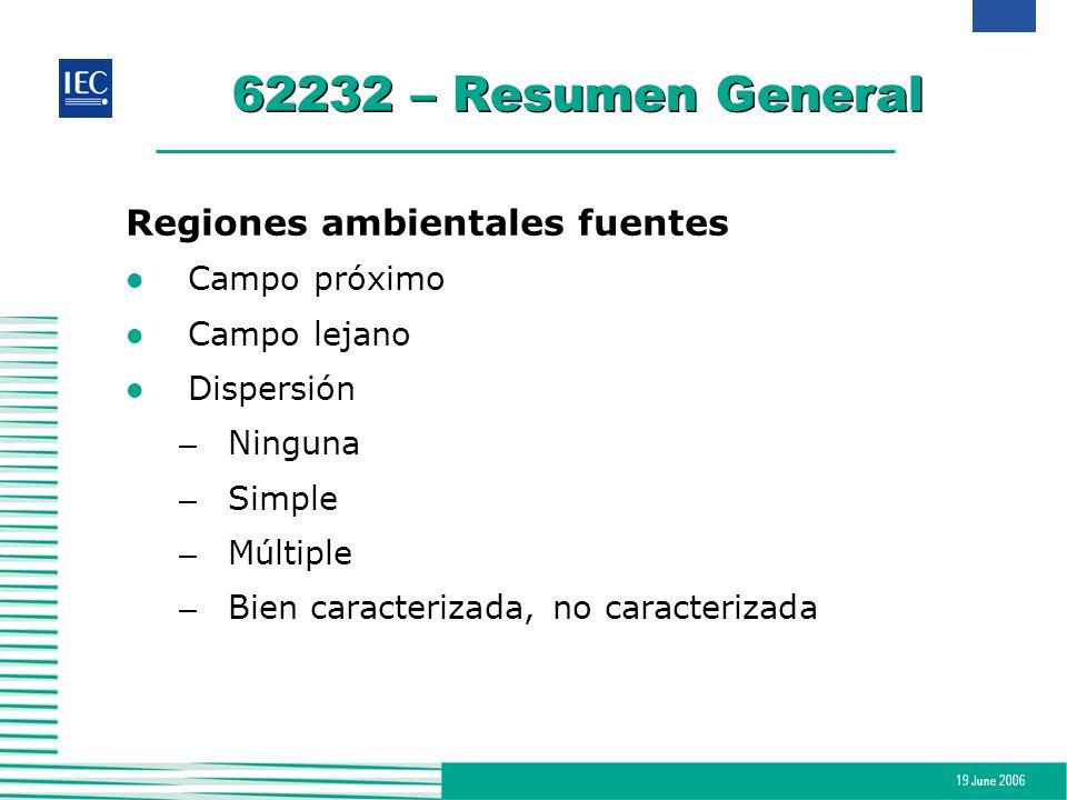 62232 – Resumen General Regiones ambientales fuentes Campo próximo