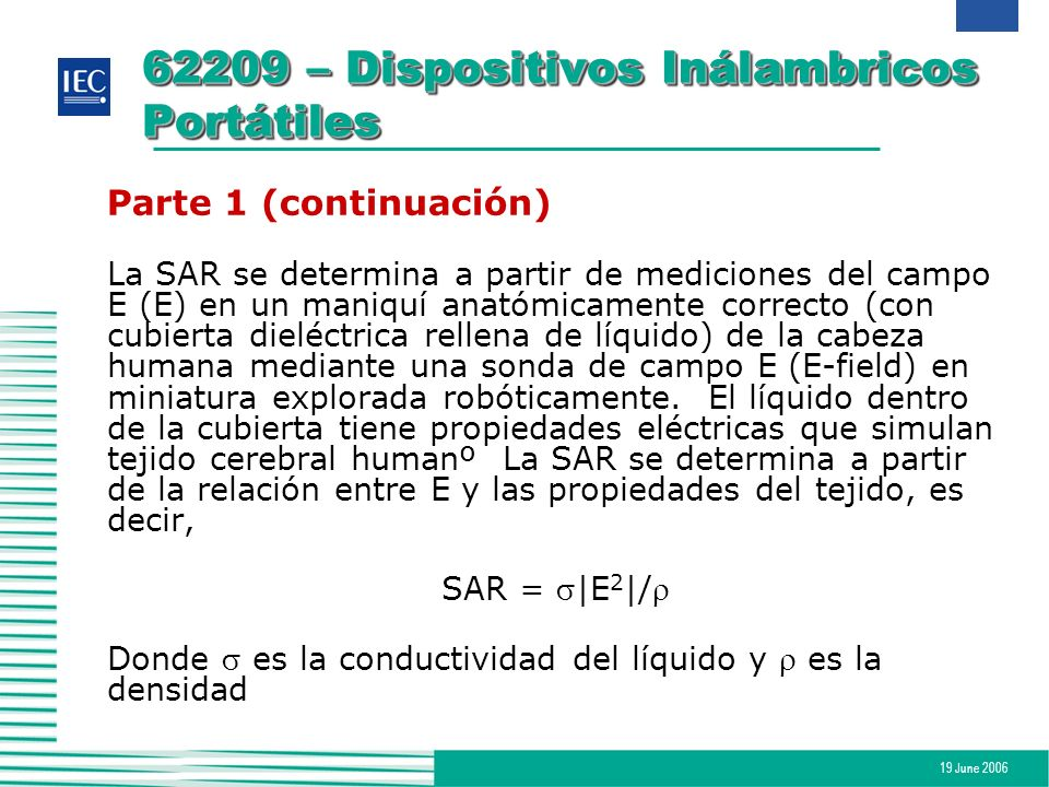62209 – Dispositivos Inálambricos Portátiles