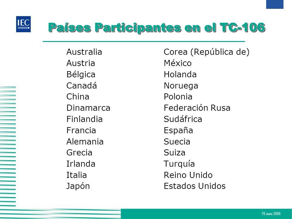 Países Participantes en el TC-106