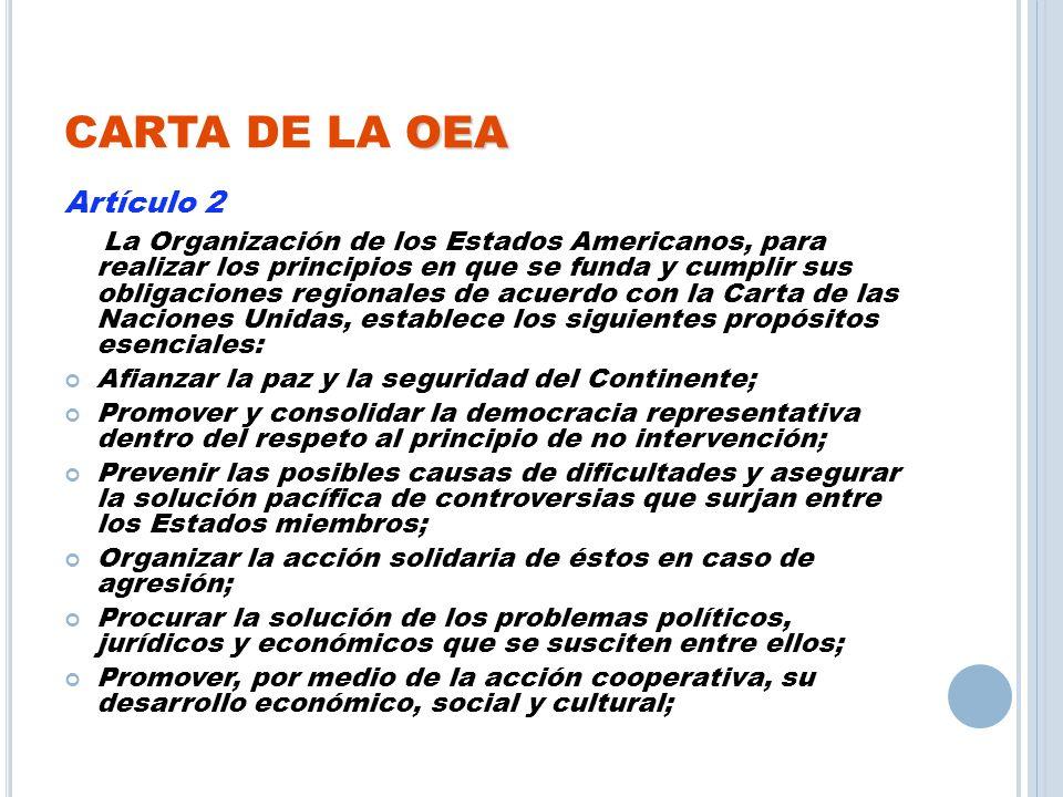 CARTA DE LA OEA Artículo 2