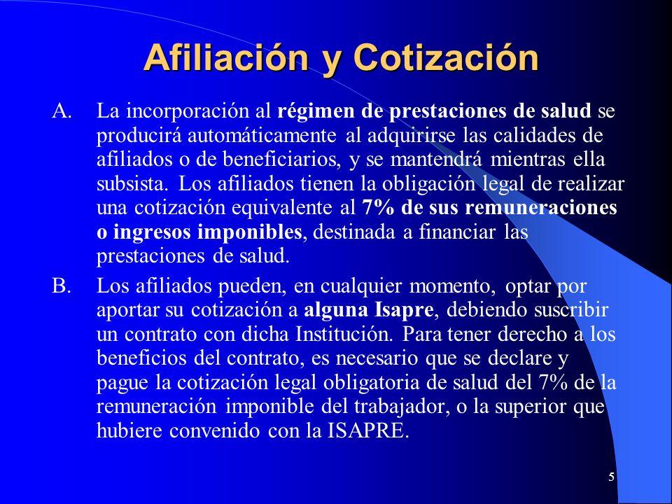 Afiliación y Cotización