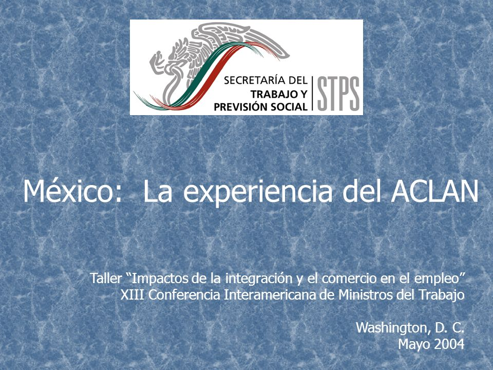 México: La experiencia del ACLAN