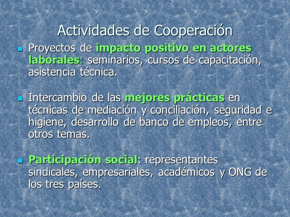 Actividades de Cooperación
