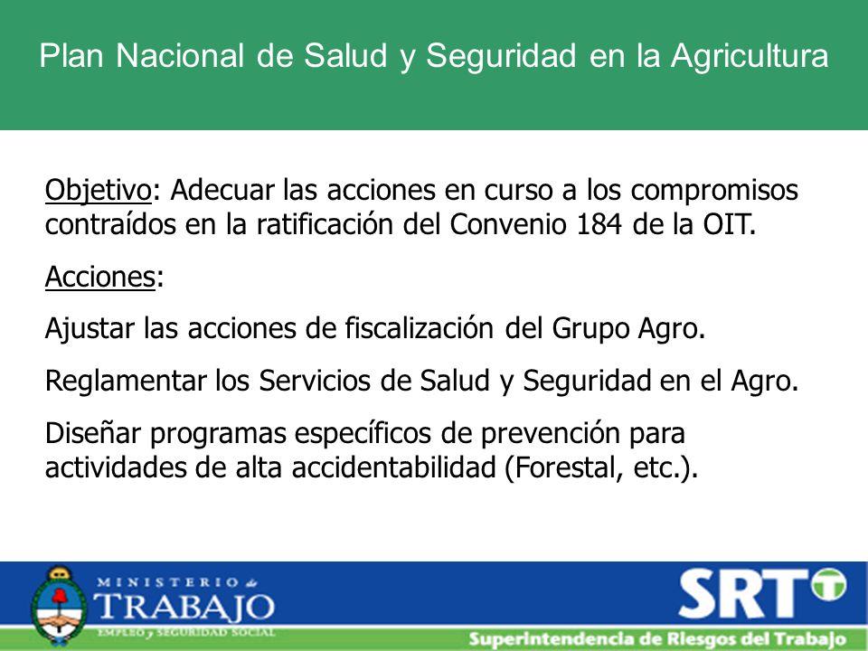 Plan Nacional de Salud y Seguridad en la Agricultura