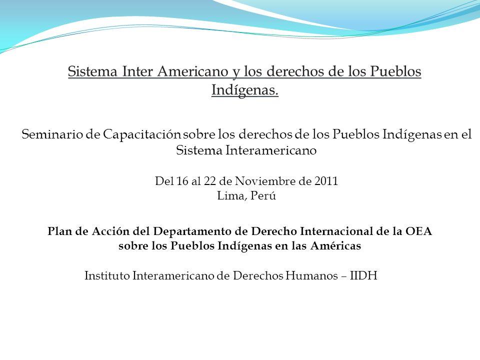 Sistema Inter Americano y los derechos de los Pueblos Indígenas.