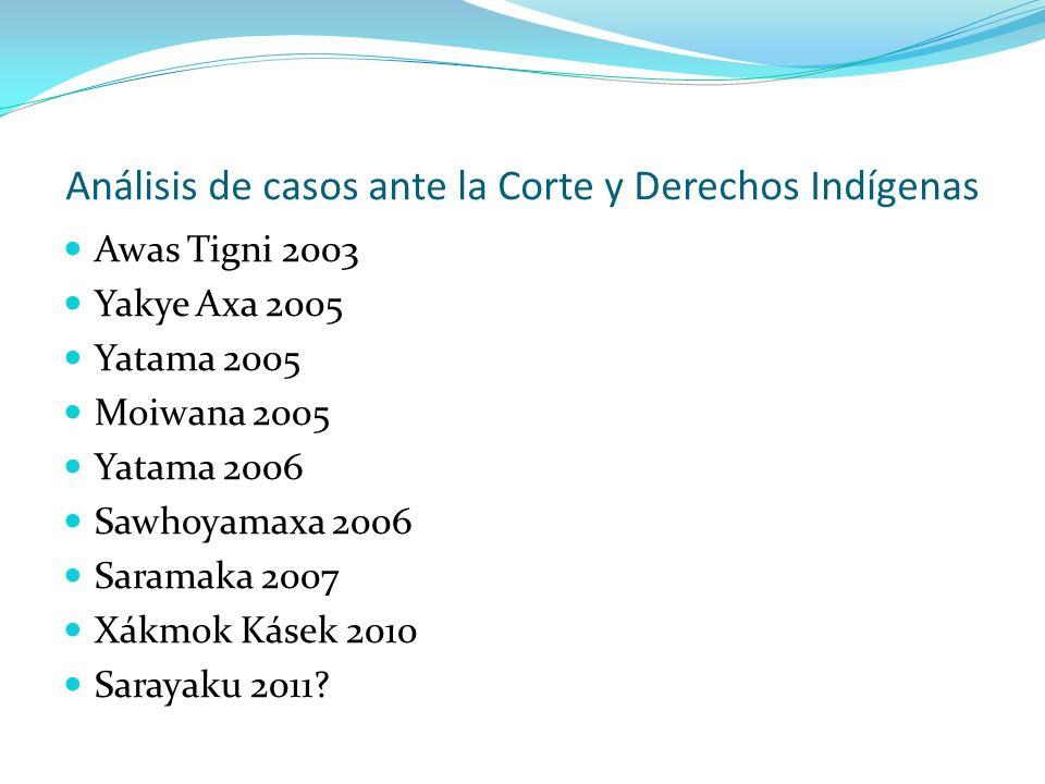 Análisis de casos ante la Corte y Derechos Indígenas