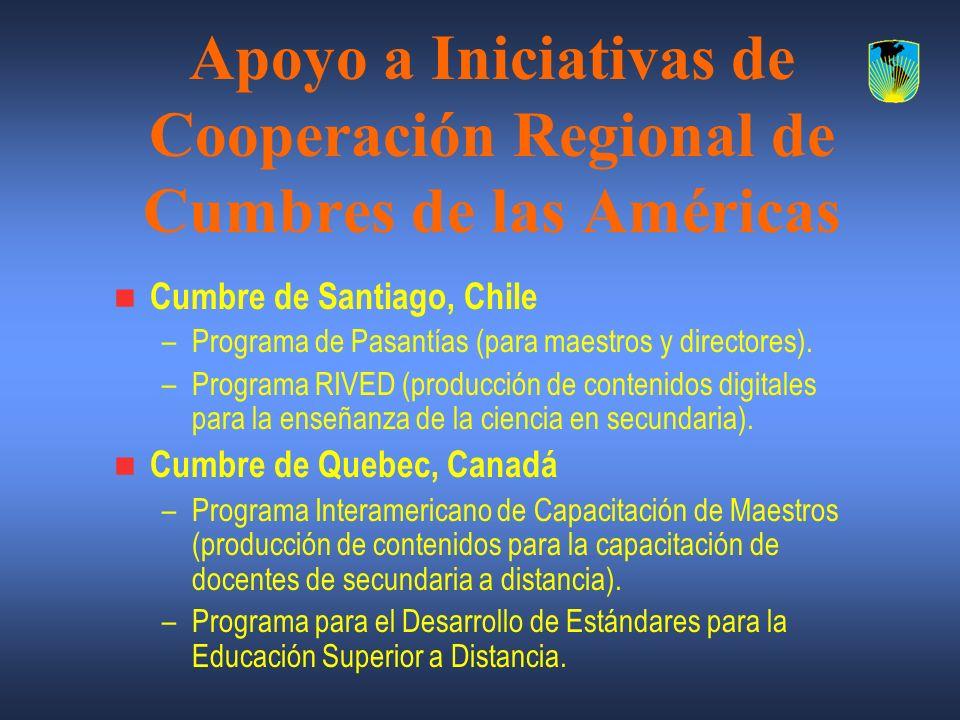 Apoyo a Iniciativas de Cooperación Regional de Cumbres de las Américas