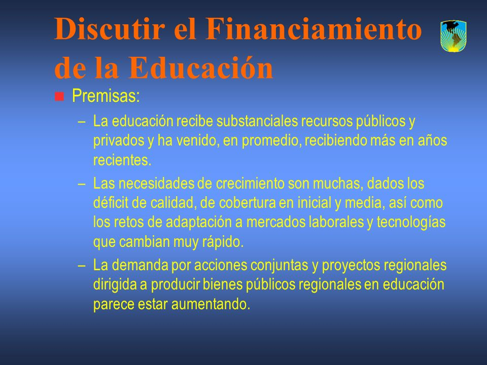 Discutir el Financiamiento de la Educación