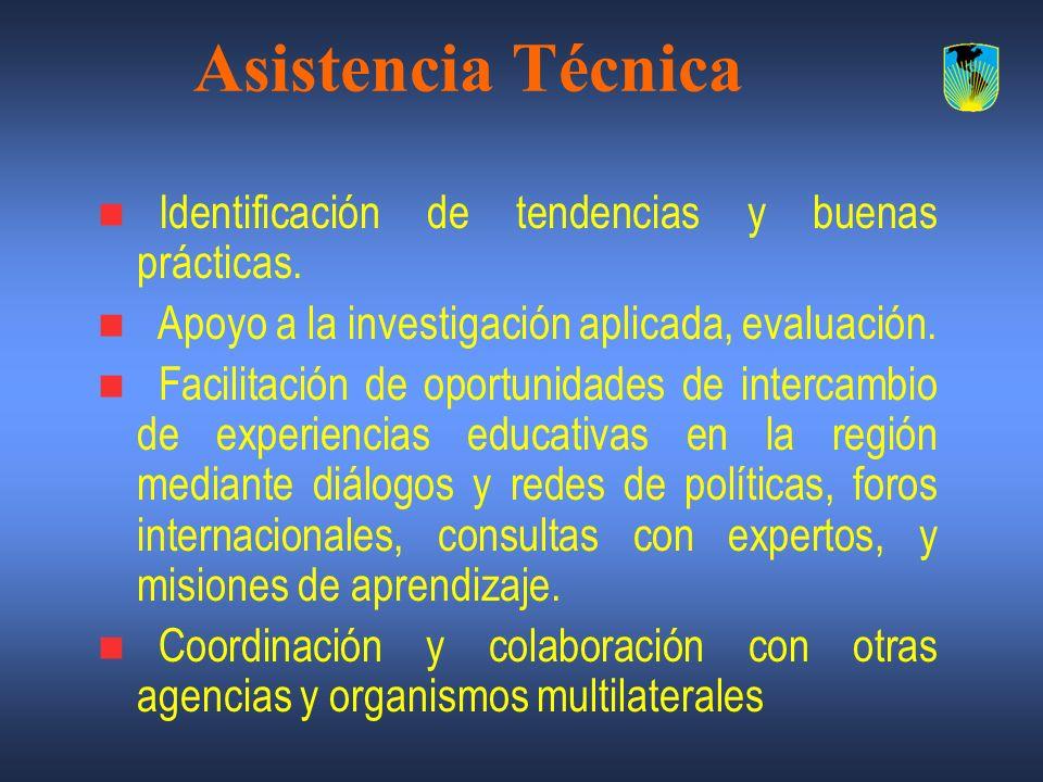 Asistencia Técnica Identificación de tendencias y buenas prácticas.