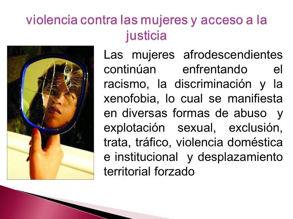 violencia contra las mujeres y acceso a la justicia