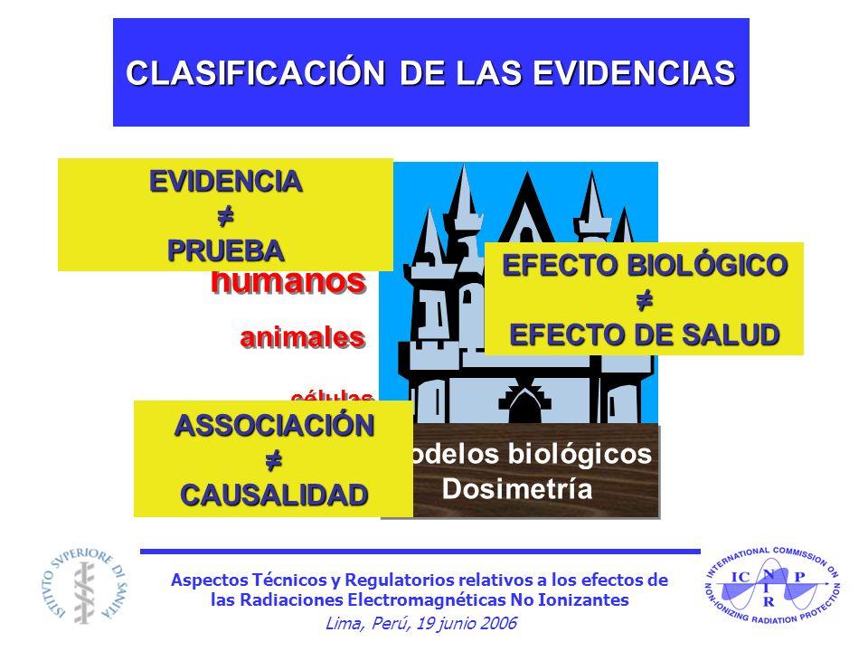 CLASIFICACIÓN DE LAS EVIDENCIAS