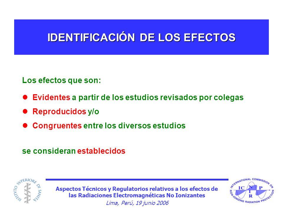IDENTIFICACIÓN DE LOS EFECTOS