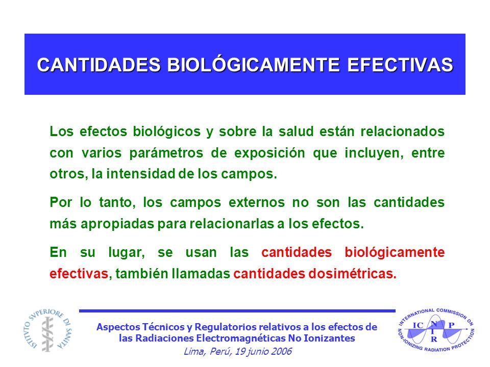 CANTIDADES BIOLÓGICAMENTE EFECTIVAS