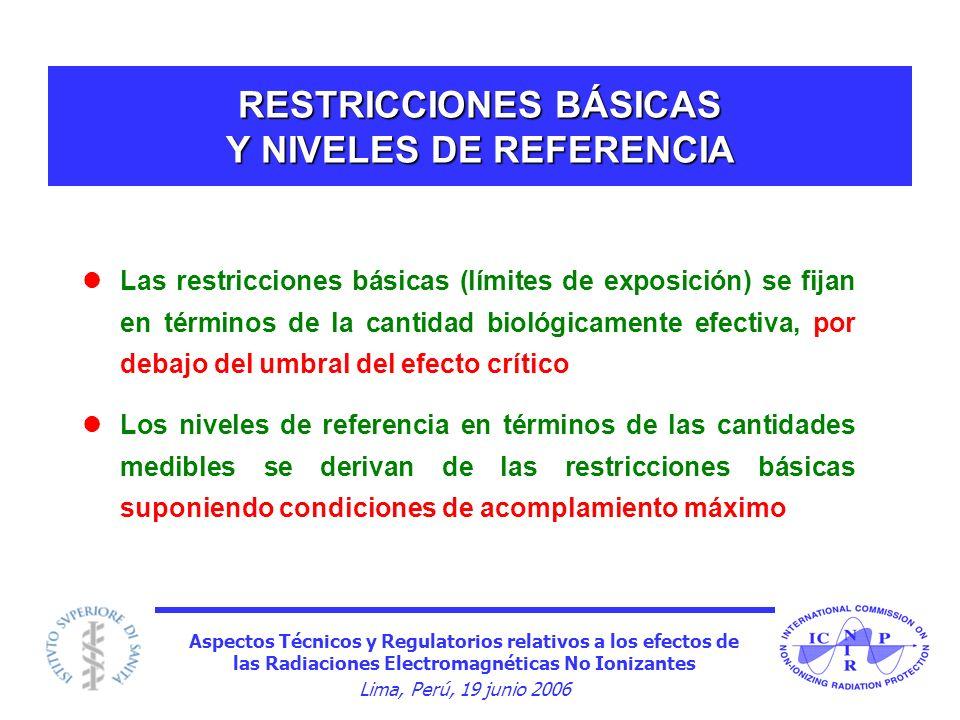 RESTRICCIONES BÁSICAS Y NIVELES DE REFERENCIA