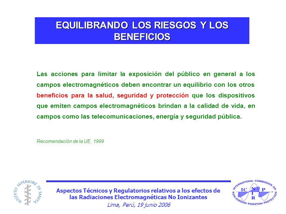 EQUILIBRANDO LOS RIESGOS Y LOS BENEFICIOS