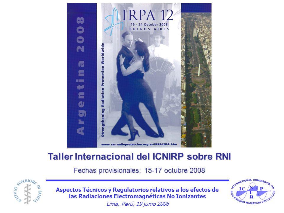 Taller Internacional del ICNIRP sobre RNI