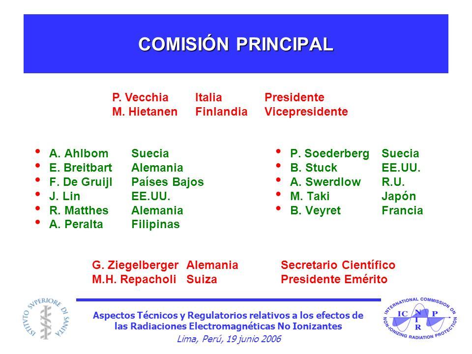 COMISIÓN PRINCIPAL P. Vecchia Italia Presidente
