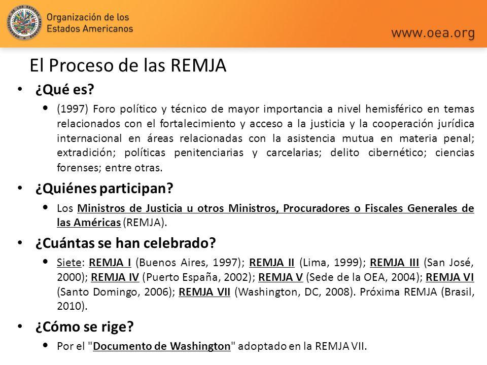 El Proceso de las REMJA ¿Qué es ¿Quiénes participan