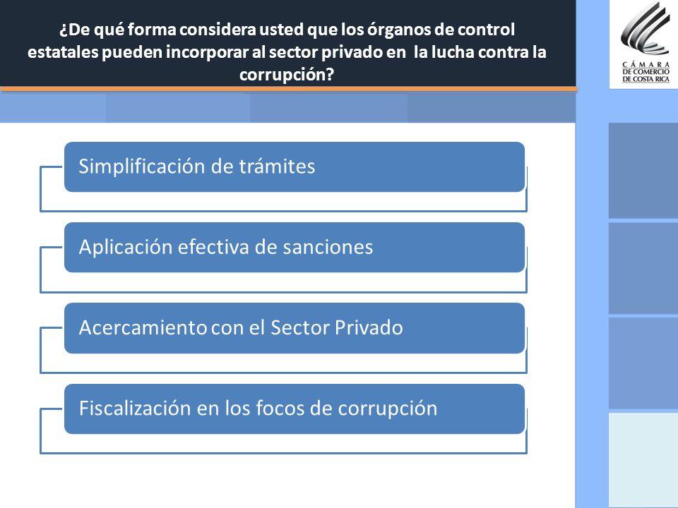 Simplificación de trámites Aplicación efectiva de sanciones