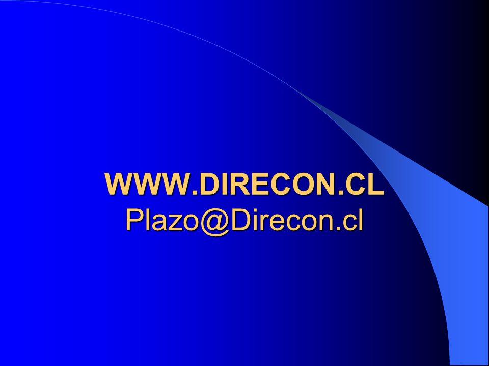 WWW.DIRECON.CL Plazo@Direcon.cl