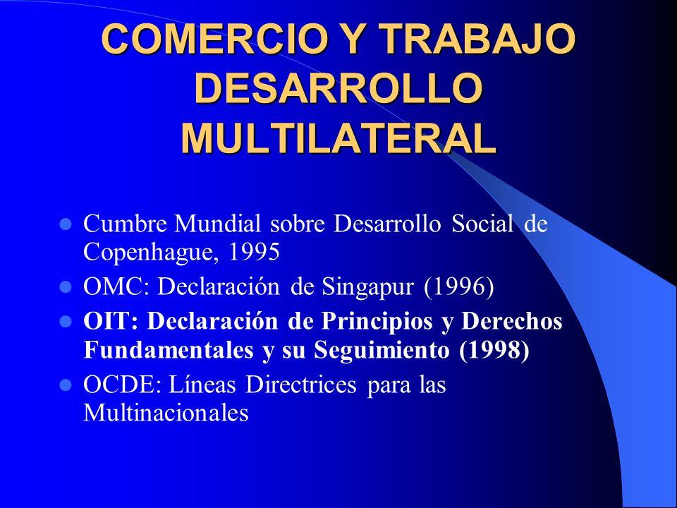 COMERCIO Y TRABAJO DESARROLLO MULTILATERAL