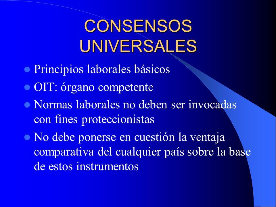 CONSENSOS UNIVERSALES