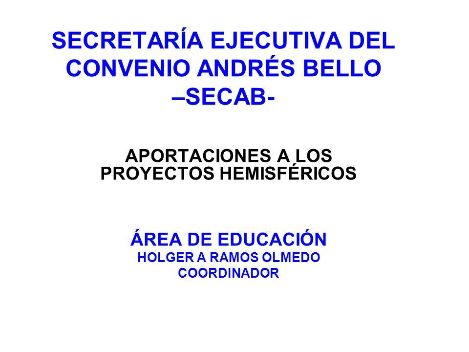 SECRETARÍA EJECUTIVA DEL CONVENIO ANDRÉS BELLO –SECAB-