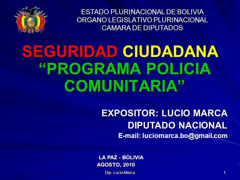 SEGURIDAD CIUDADANA PROGRAMA POLICIA COMUNITARIA
