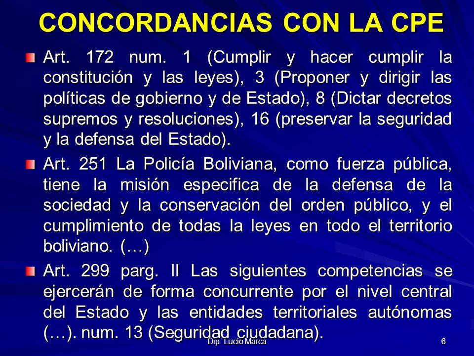 CONCORDANCIAS CON LA CPE