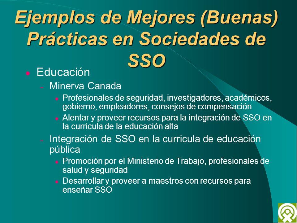 Ejemplos de Mejores (Buenas) Prácticas en Sociedades de SSO