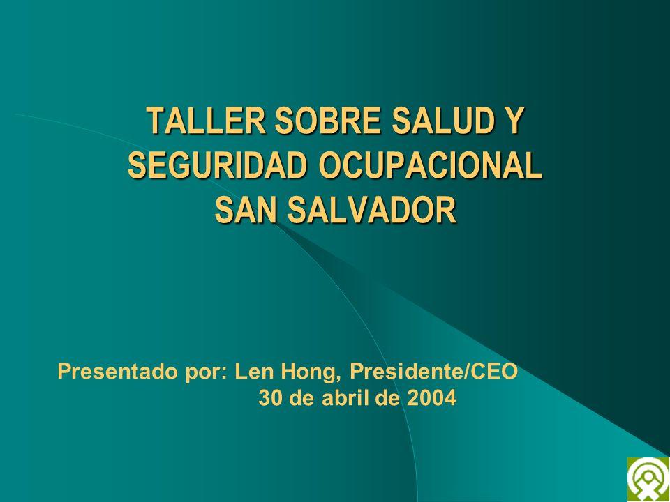 TALLER SOBRE SALUD Y SEGURIDAD OCUPACIONAL SAN SALVADOR