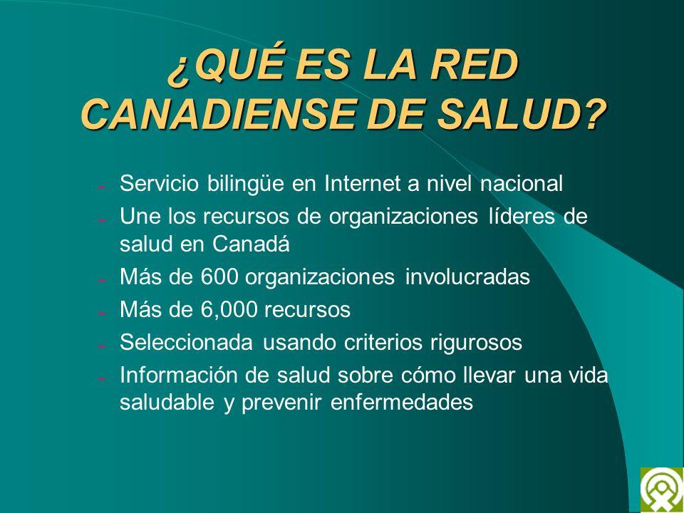 ¿QUÉ ES LA RED CANADIENSE DE SALUD