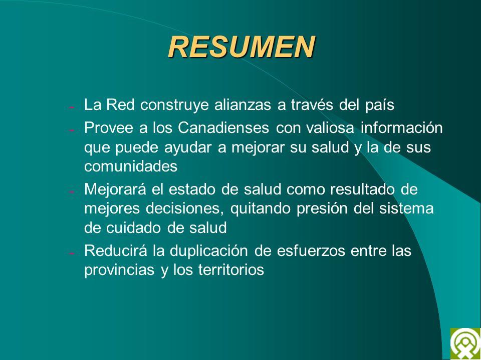 RESUMEN La Red construye alianzas a través del país