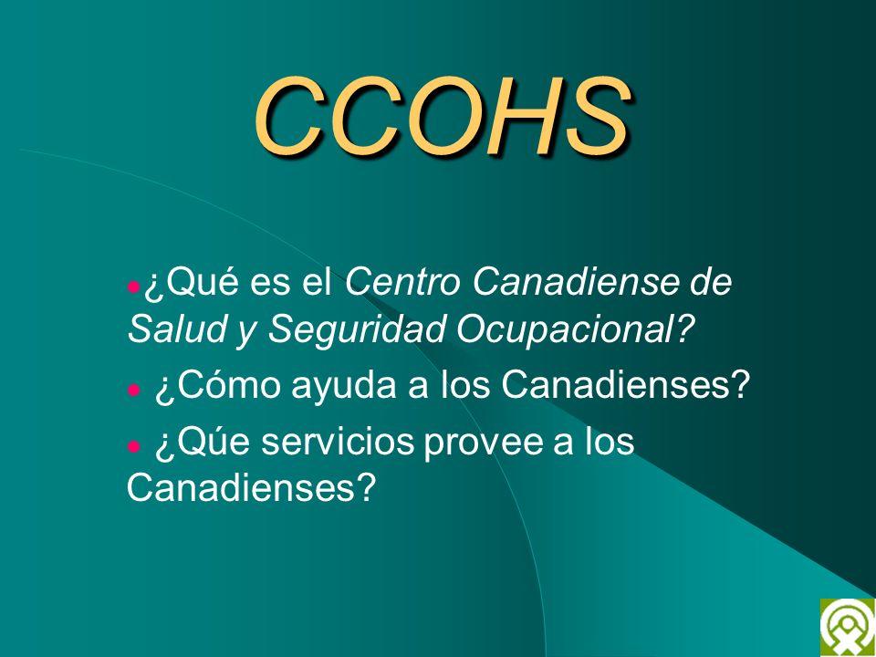 CCOHS ¿Qué es el Centro Canadiense de Salud y Seguridad Ocupacional