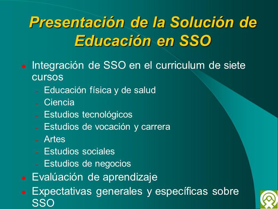 Presentación de la Solución de Educación en SSO