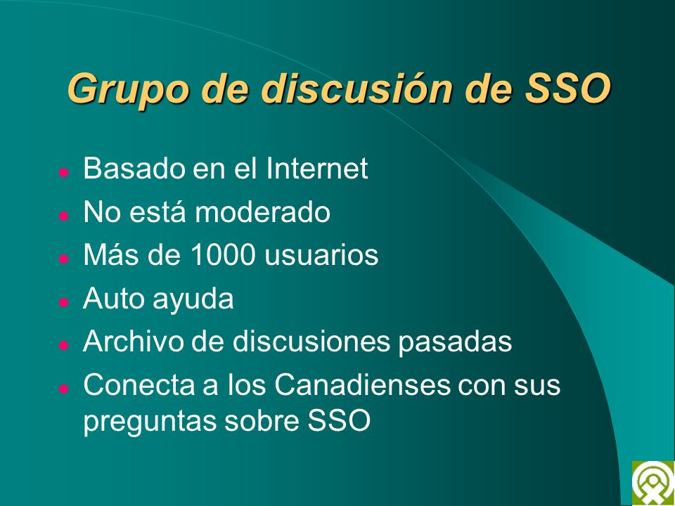 Grupo de discusión de SSO