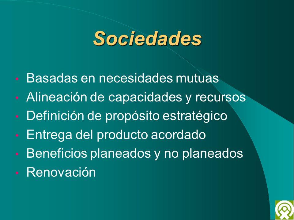 Sociedades Basadas en necesidades mutuas