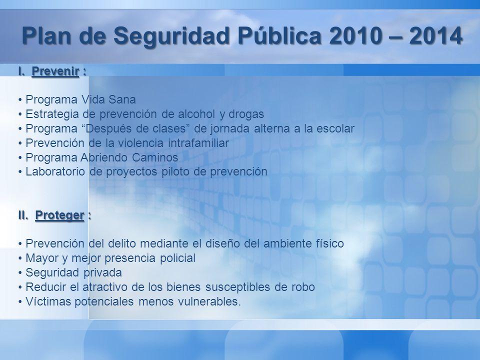 Plan de Seguridad Pública 2010 – 2014