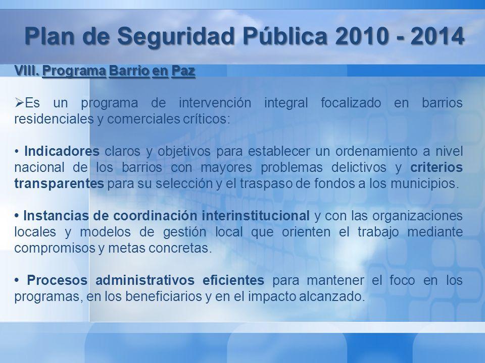 Plan de Seguridad Pública 2010 - 2014