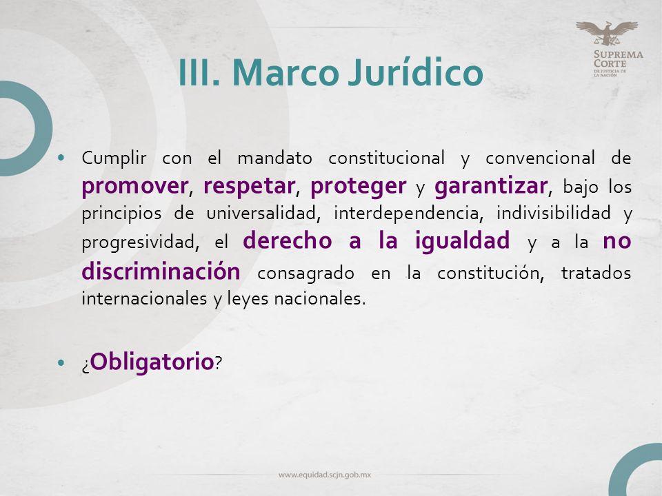 III. Marco Jurídico