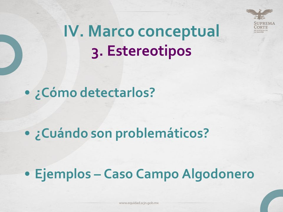 IV. Marco conceptual 3. Estereotipos