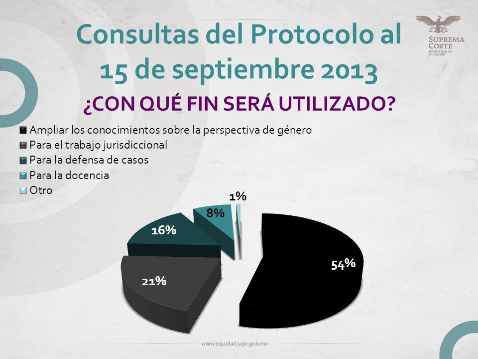 Consultas del Protocolo al 15 de septiembre 2013