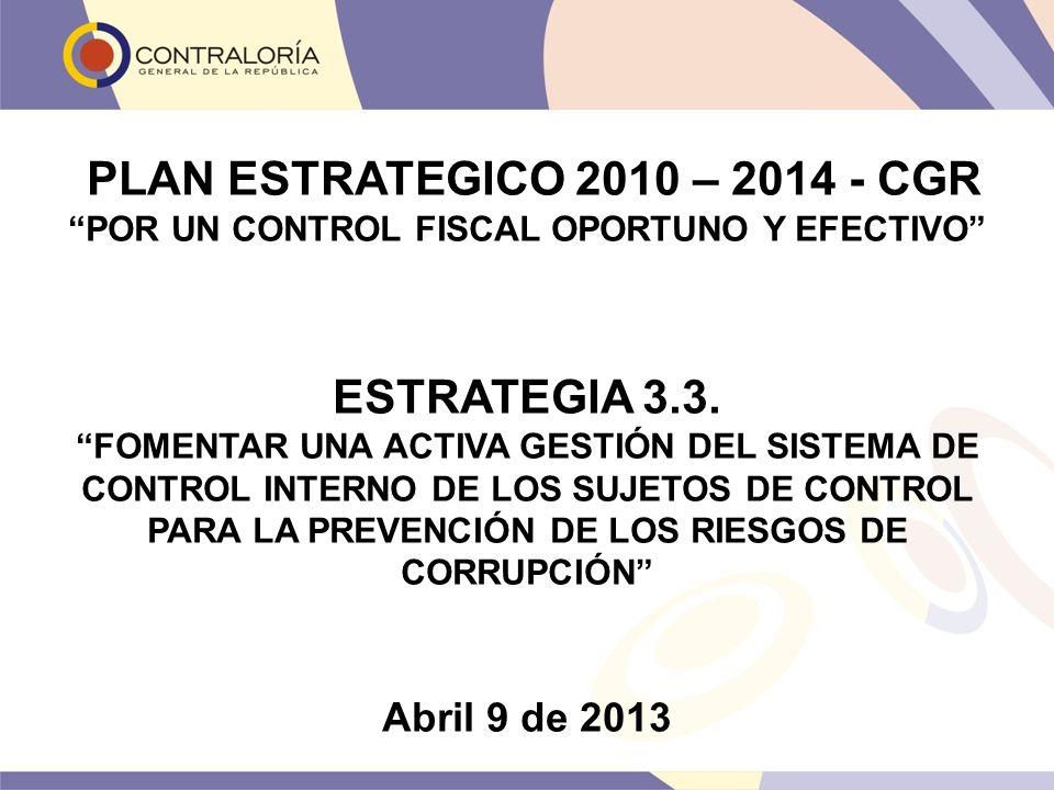 PLAN ESTRATEGICO 2010 – 2014 - CGR