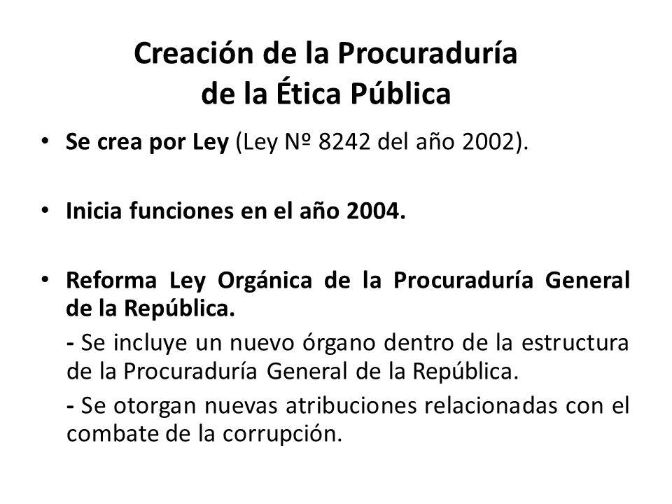 Creación de la Procuraduría de la Ética Pública