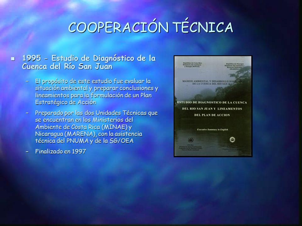 COOPERACIÓN TÉCNICA 1995 - Estudio de Diagnóstico de la Cuenca del Río San Juan.
