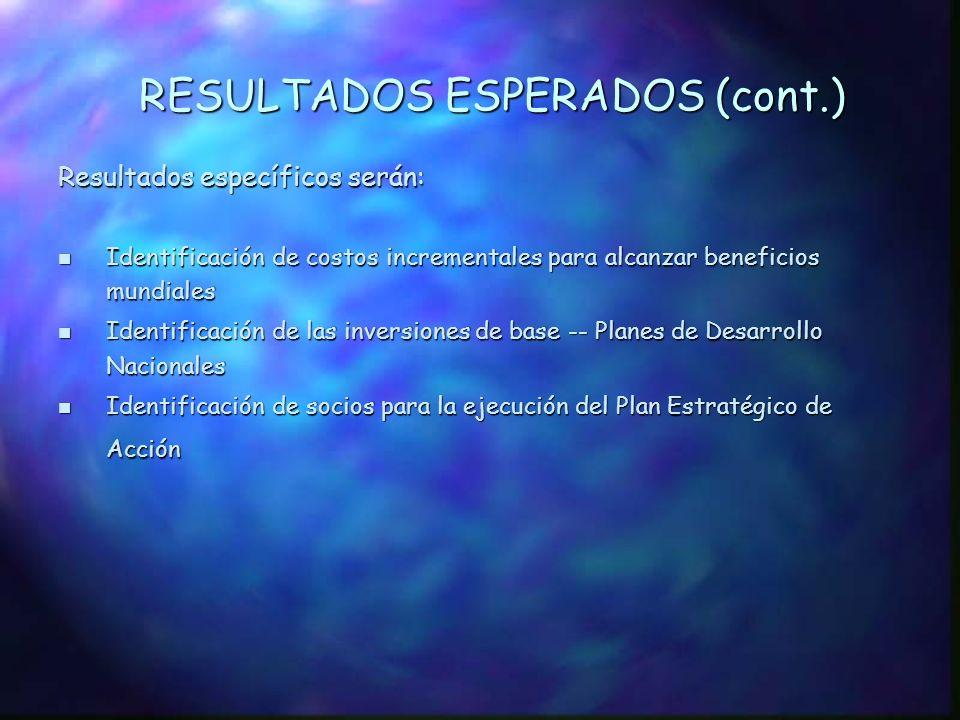 RESULTADOS ESPERADOS (cont.)
