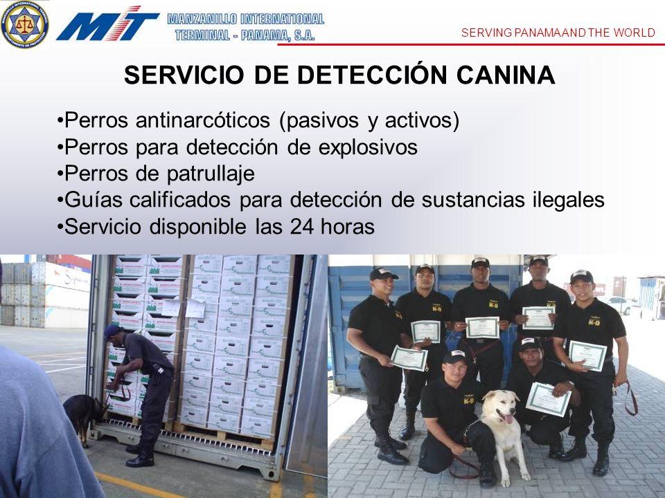 SERVICIO DE DETECCIÓN CANINA