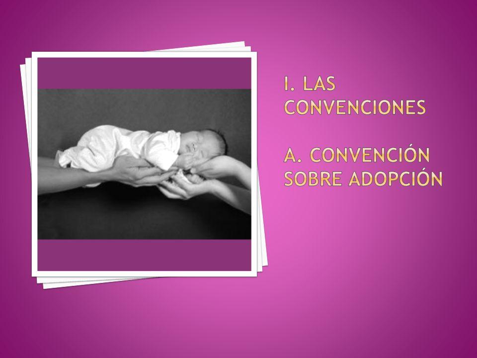 i. Las convenciones a. Convención sobre adopción